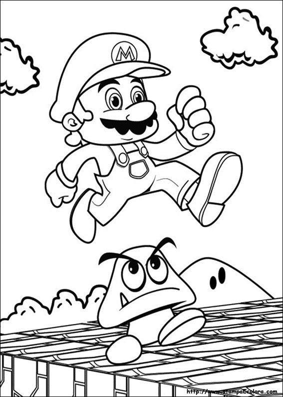 Disegni de super mario bros for Disegni da colorare super mario bros