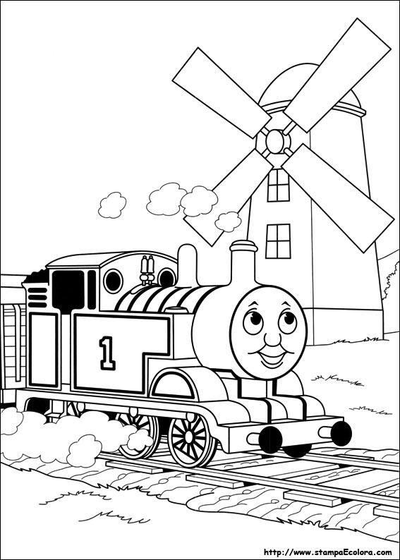 Disegni de trenino thomas - Immagini del treno per colorare ...